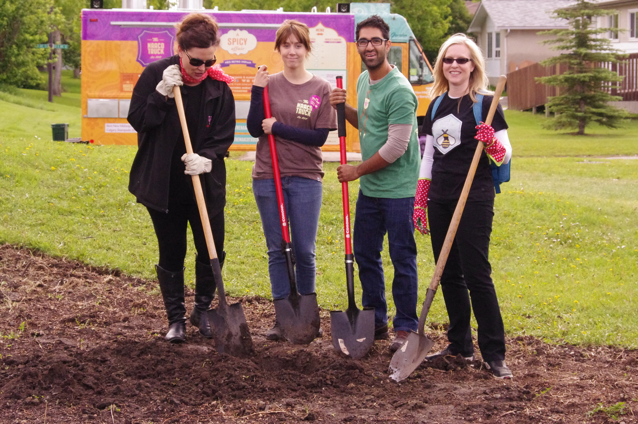 15. Planting the community orchard at Dover Community Association.  Alison-Steph-Aman-Steph_credit Ann Craig[1].JPG