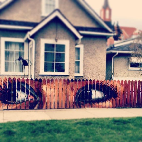 30. Art on a fence.JPG