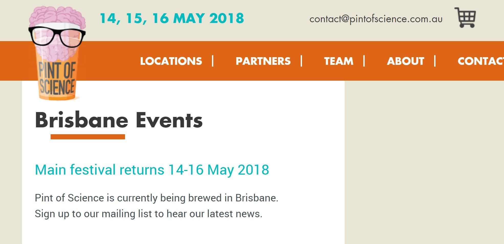 Pint of Science Festival. Invited speaker. Link  here . Catchment Brewery, Brisbane.  May 16 2018. 7:00 - 9:30pm.