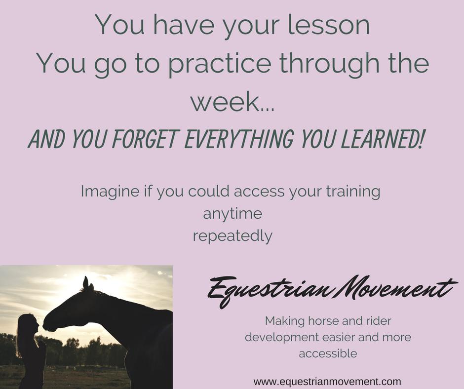 Online training for horses