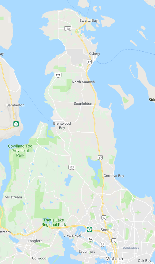 Saanich Peninsula Map.png