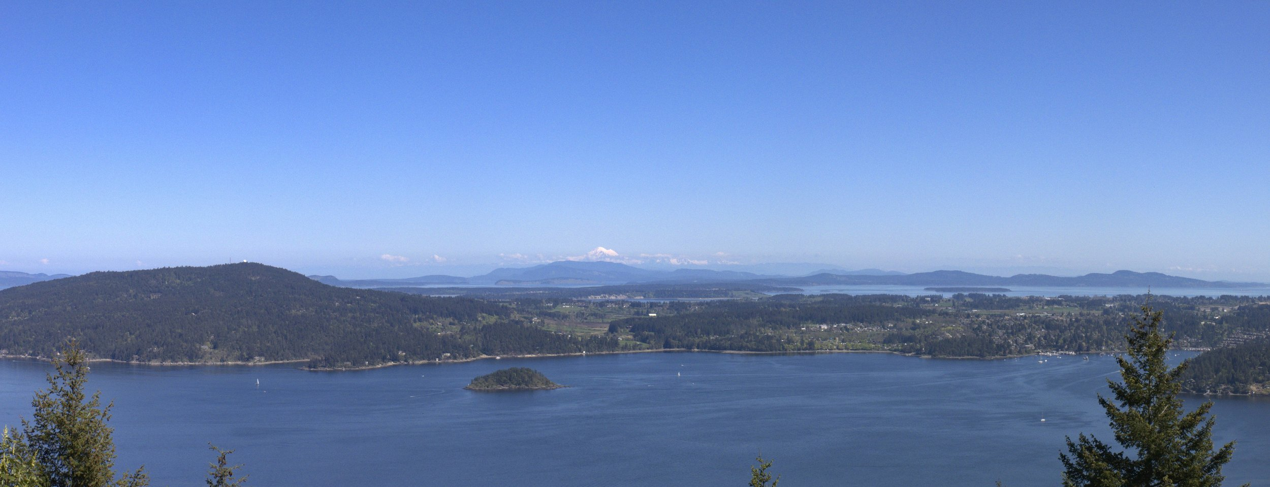 Saanich Peninsula (from Malahat)