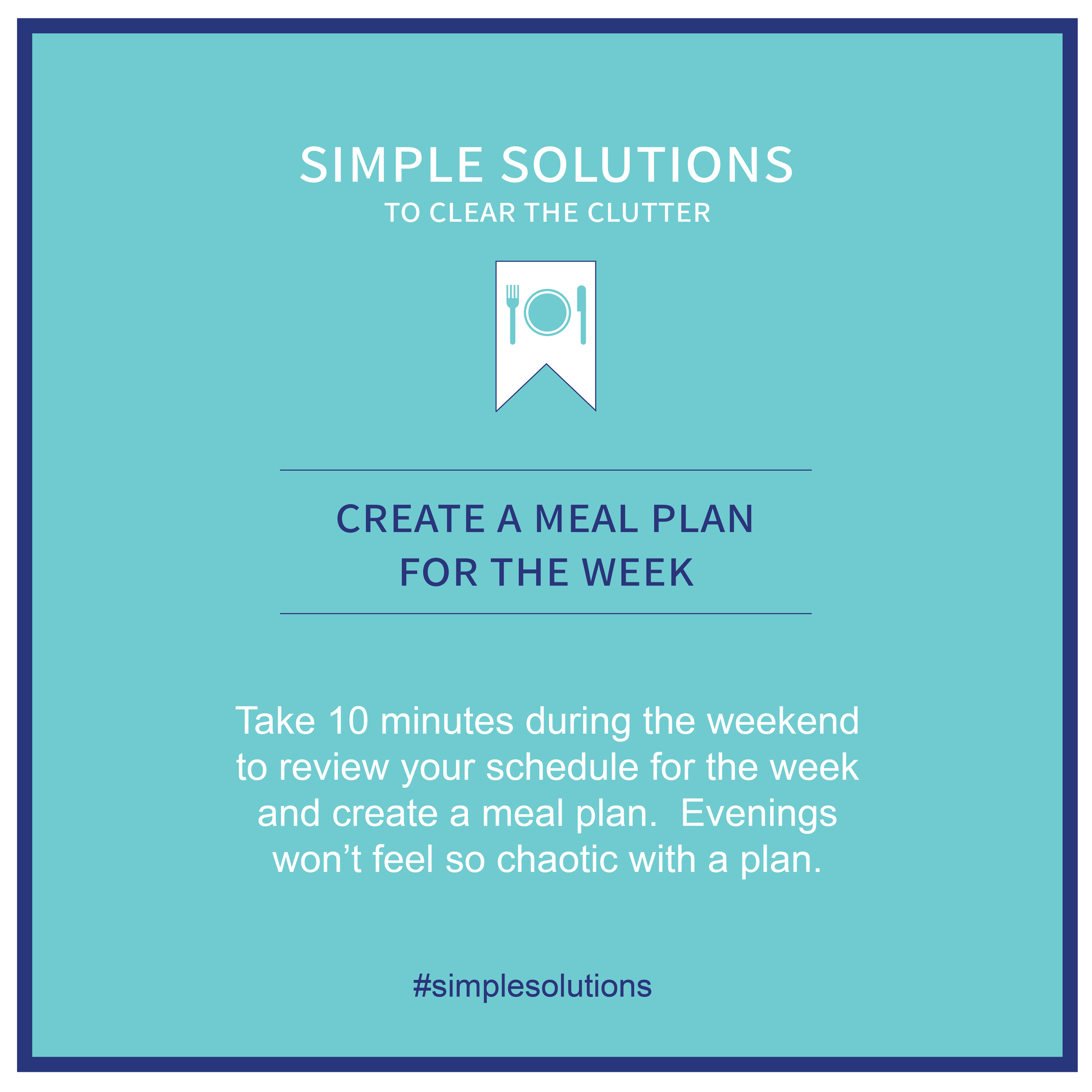 Make Your Weeknights Easier - For someone who loves the spontaneity of summer but functions better with routine, I start to crave a fresh start about this time each year. So when school begins I take the opportunity to steer our family back towards a more predictable schedule. I look forward to the rhythm of meals around our table but it takes a little bit of preparation to get us there.Investing 10 minutes during the weekend to assess the week ahead, create a simple meal plan and order groceries saves time and builds a little more margin for me to be present during the weekday.