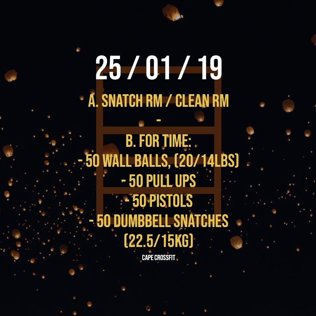 Friday 6.00pm Bonfire WOD - This is an extended version of the WOD which included snatch RM / Clean RM. The class is 90 minutes instead of the usual 60 minutes. This WOD was pretty brutal but super fun.