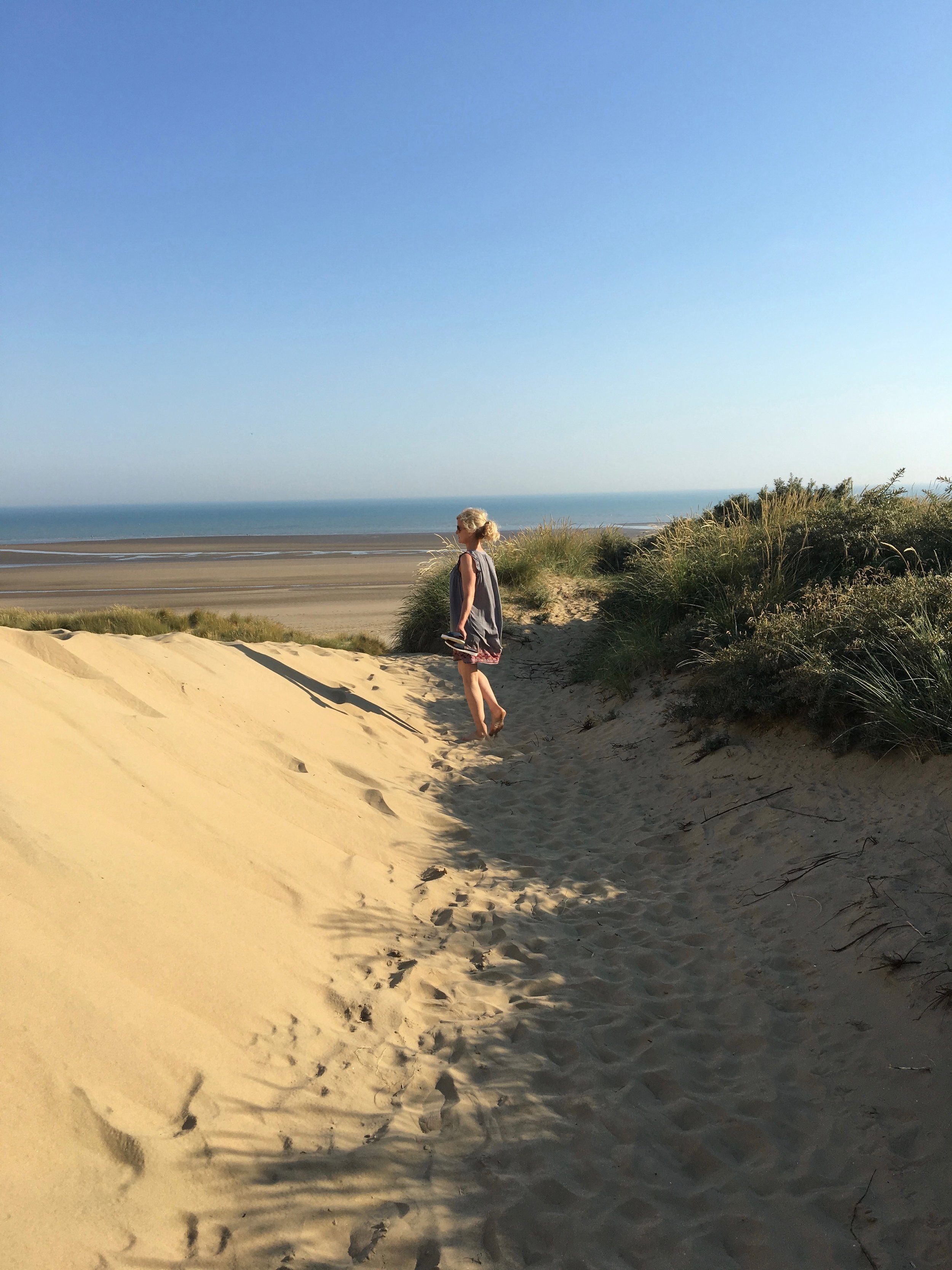 Camber Sands is a short walk over the dunes