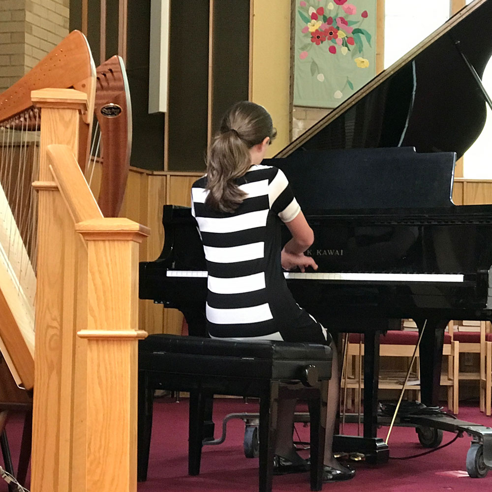 The Middle School Years - When students reach middle school they typically have a well-rounded foundation for musicianship. Lessons begin to focus on time management and effective practicing strategies. Students learn how to solve problems and how to set and achieve realistic goals. That's right... these are life skills.I believe in meeting my students where they are. That means private piano lessons are highly individualized. I teach classical, jazz, popular and contemporary styles. I am equally comfortable offering traditional exam preparation or a more flexible and creative blend of composition and improvisation.