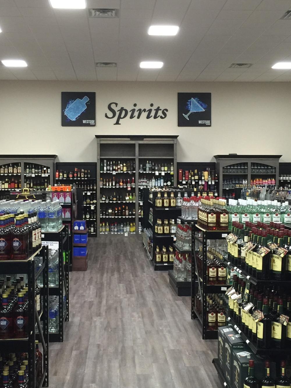 westside beverage liquor and spirits selection in cumming georgia