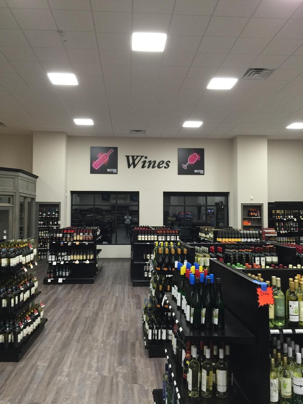 westside beverage wine section in cumming georgia