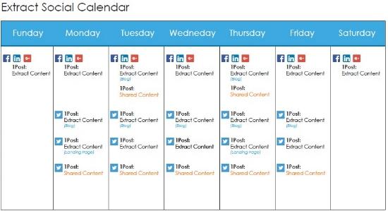 Social Media Distribution Calendar