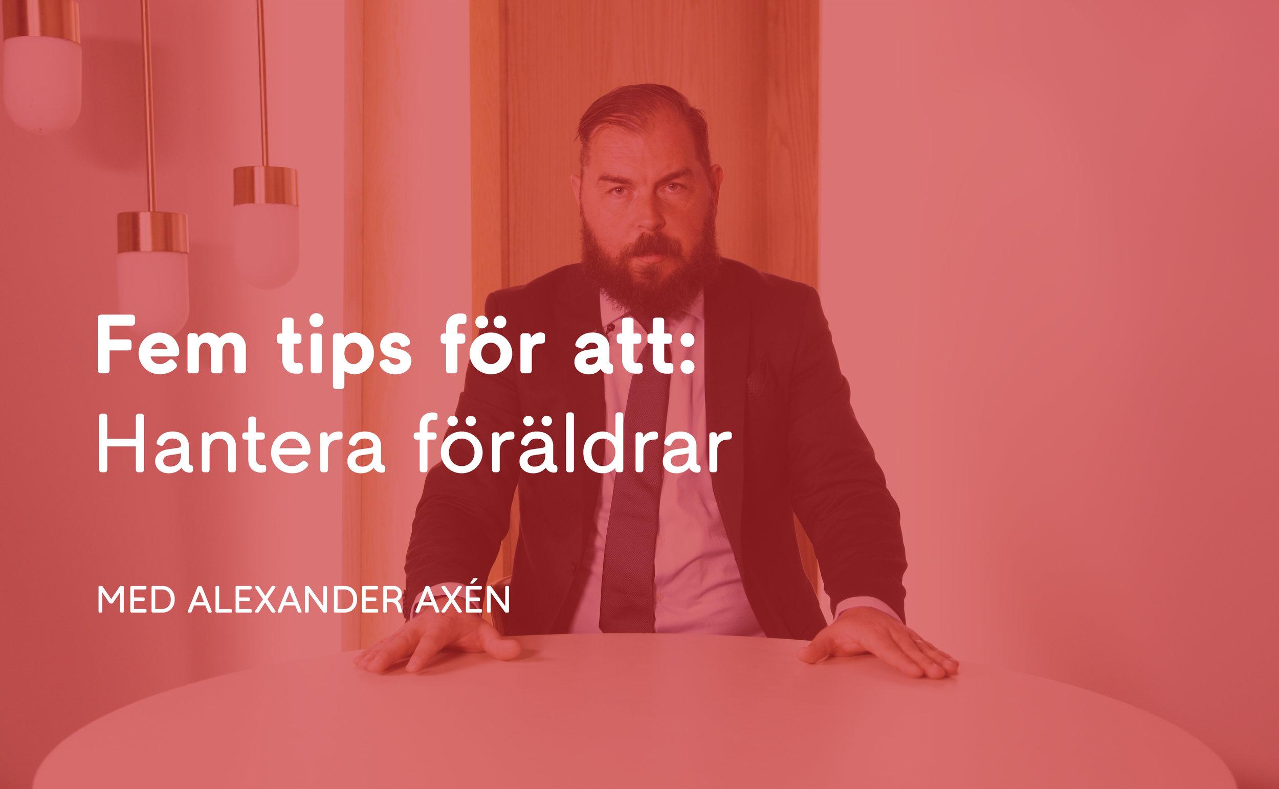 Alexander Axén  är tidigare fotbollstränare och nu expertkommentator på C More, aktuell som kommentator i fotbolls-VM. I den Sociala Spelboken ger Alexander 5 tips om hur tränare kan hantera och prata med föräldrar både på och utanför planen.    Se filmen här
