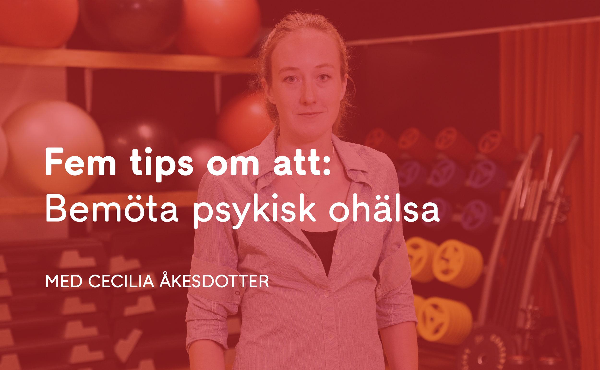 Cecilia Åkesdotter  har själv vunnit VM-guld i Taekwondo och är nu doktorand på Gymnastik- och idrottshögskolan i Stockholm (GIH) med psykisk ohälsa hos elitidrottare som forskningsområde. I den Sociala Spelbokenger Cecilia 5 tips till tränare på hur de kan bemöta och sprida kunskap om psykisk ohälsa.    Se filmen här