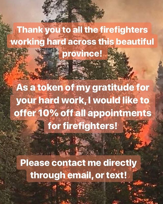 Thank you for working your butt off to keep our province beautiful, and safe! 🙏🏼 #registeredmassagetherapist #massagetherapy #relax #discount #castlegarbc #rosslandbc #trailbc #mobilemassage #ilovemassage #bcwildfires #rmt #massagetherapist #registeredmassagetherapy #ahhh #mountainblisstherapeutics #kootenays #kootenaylife #kootenayliving #wellness #kootenaywellness #healthylifestyle