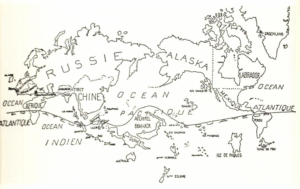 Mapa de los surrealistas belgas (1929)