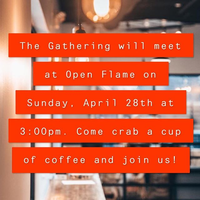 Great Coffee = Great Time! Hope to see you at @openflamecoffee Sunday!