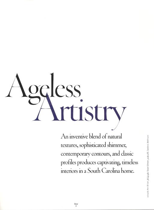 Ageless Artistry Decor Magazine 2009