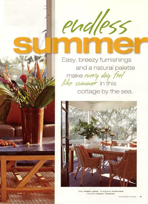 Endless Summer Better Homes & Gardens Magazine 2008