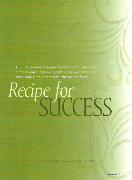 Recipe for Success Tuscan Style 2007