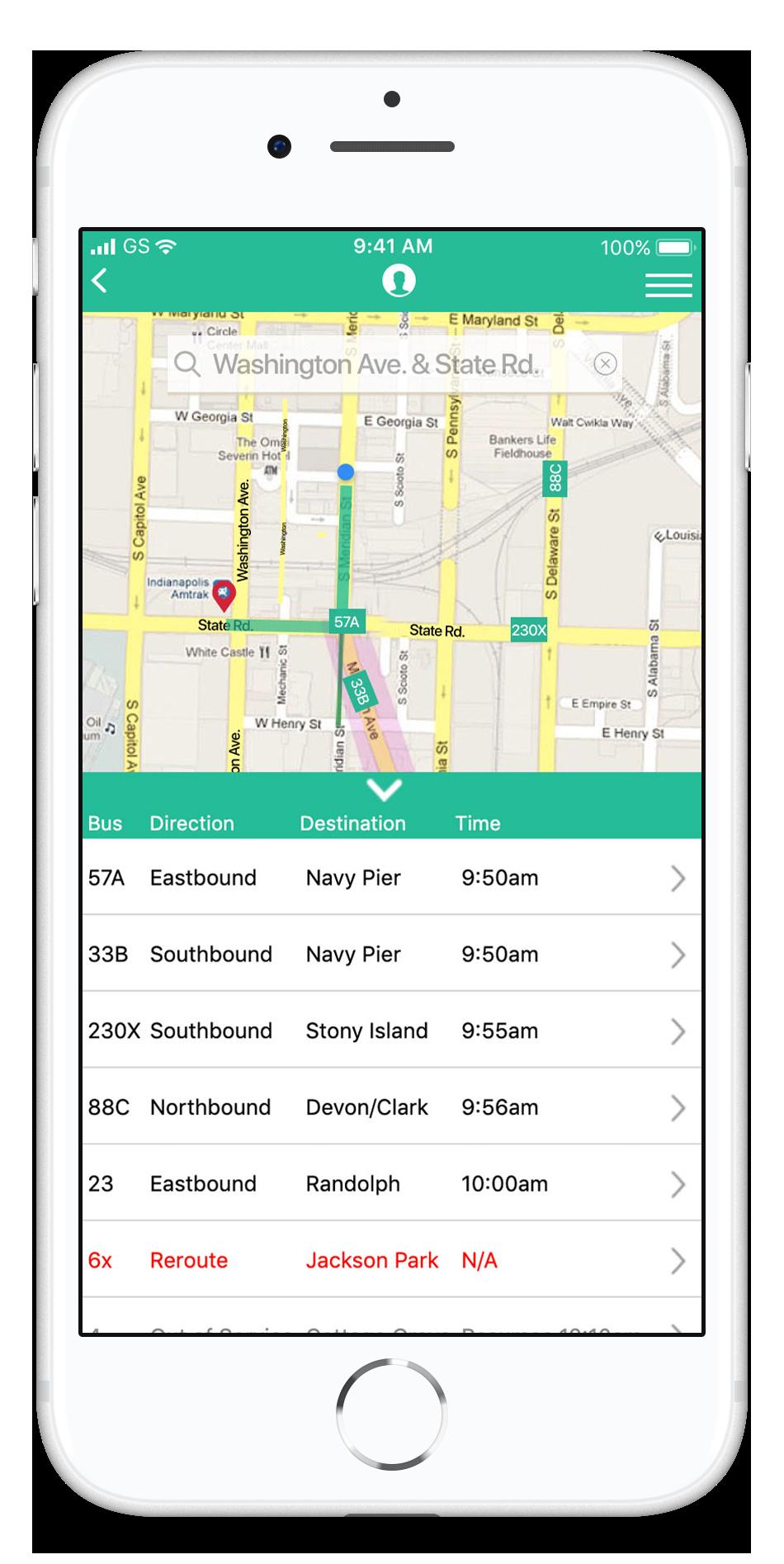 BusyBus: Transit App | App design, prototype, HTML5, CSS-3