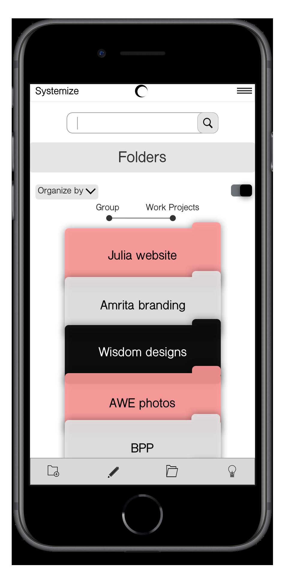 Systemize: Digital Organization App | App design, prototype