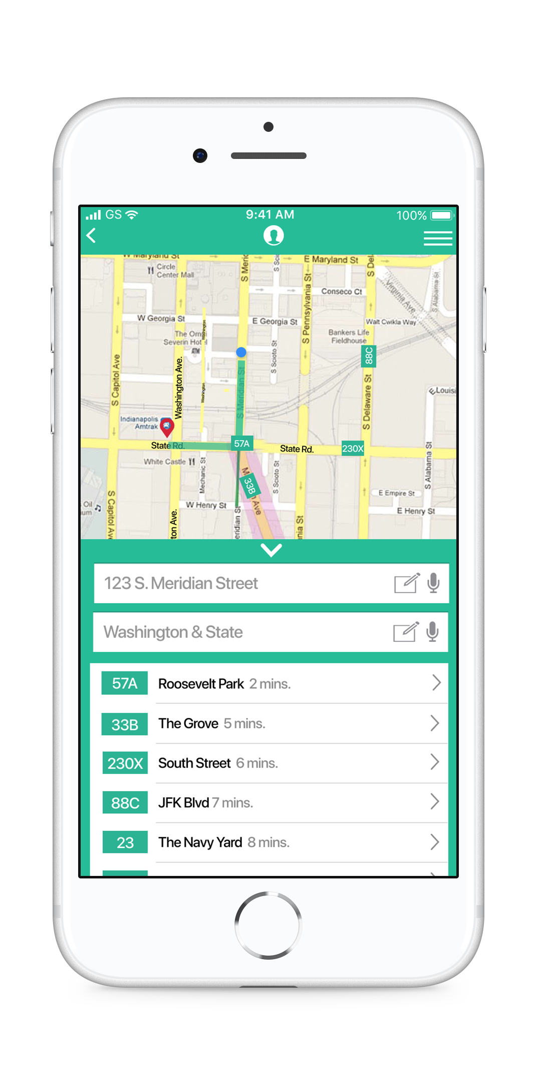 BusyBus Transit Screen Version 1