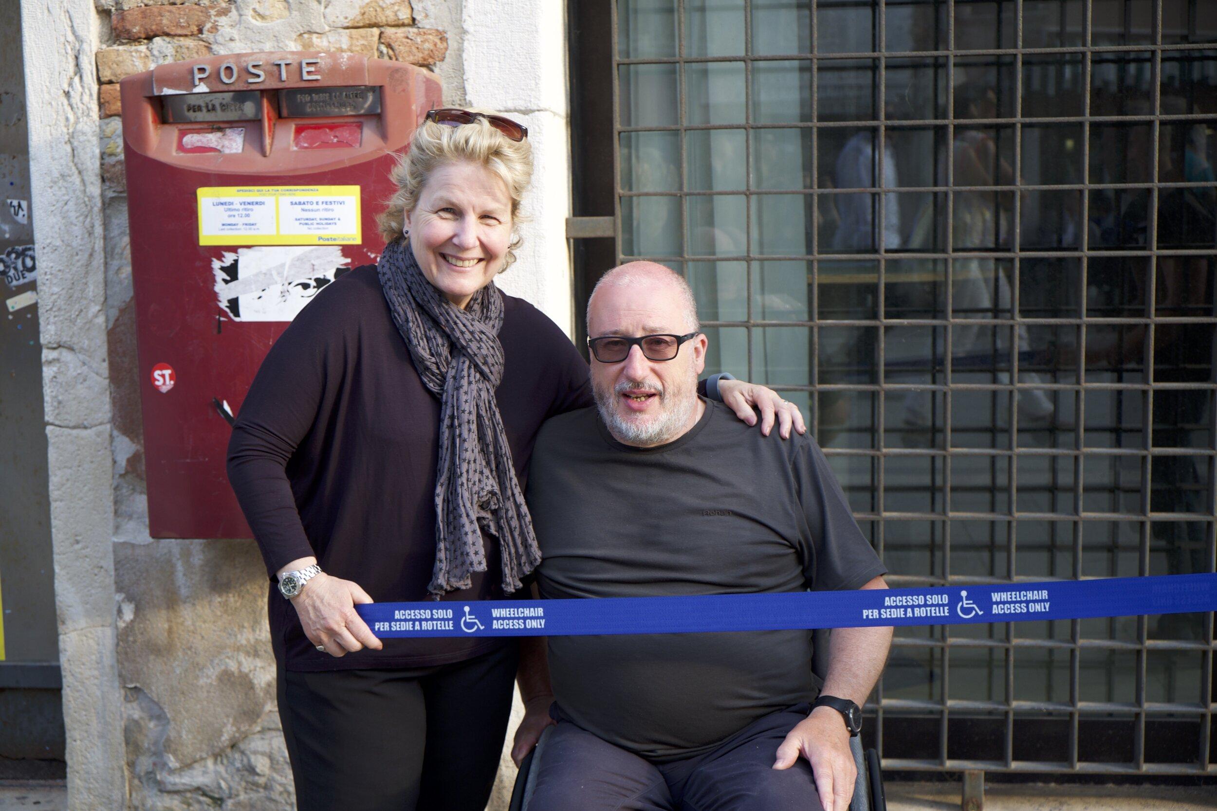 Sandi Toksvig with Tony Heaton