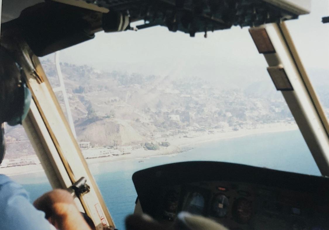 Über dem Strand von Malibu