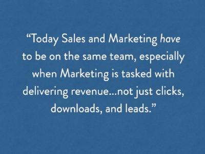 Sales and marketing have to get along