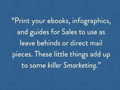 Print materials for Sales