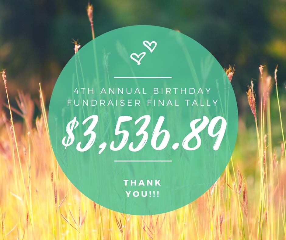 4th annual birthday fundraiser final tally.jpg