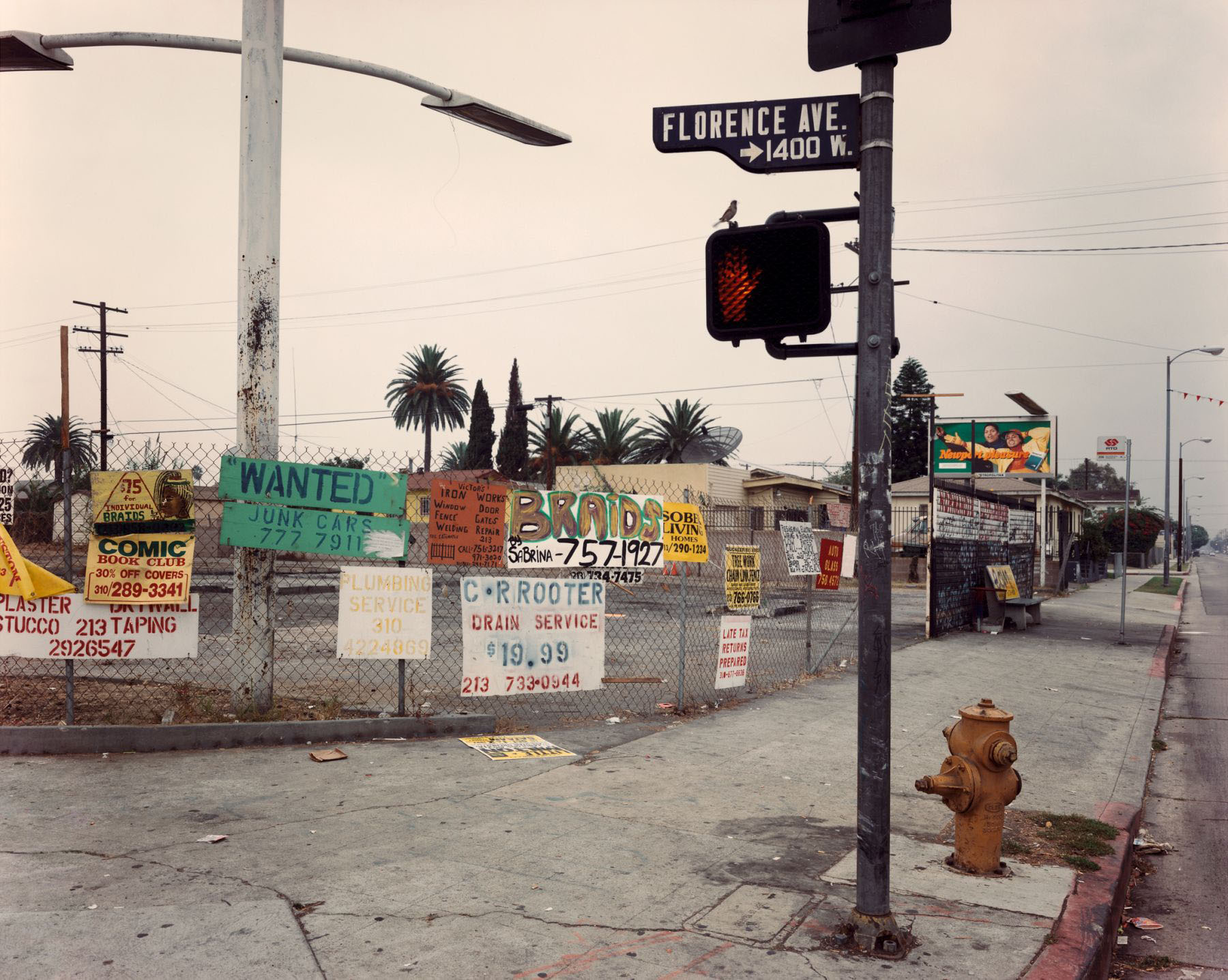 The Northwest Corner of Florence and Normandie Avenues, Los Angeles, CA, October 1993