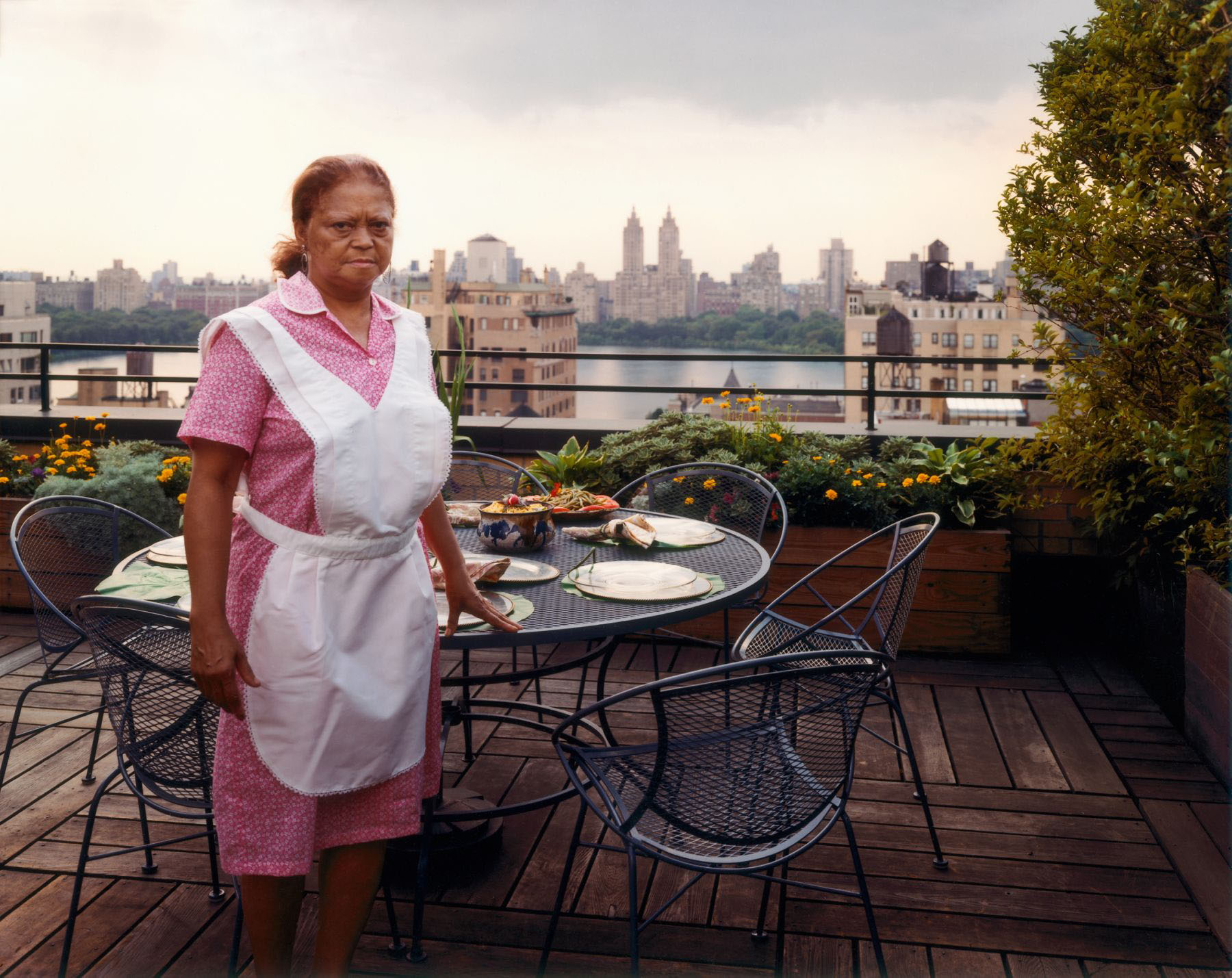 Domestic Worker Setting The Table, New York, New York, August 1993