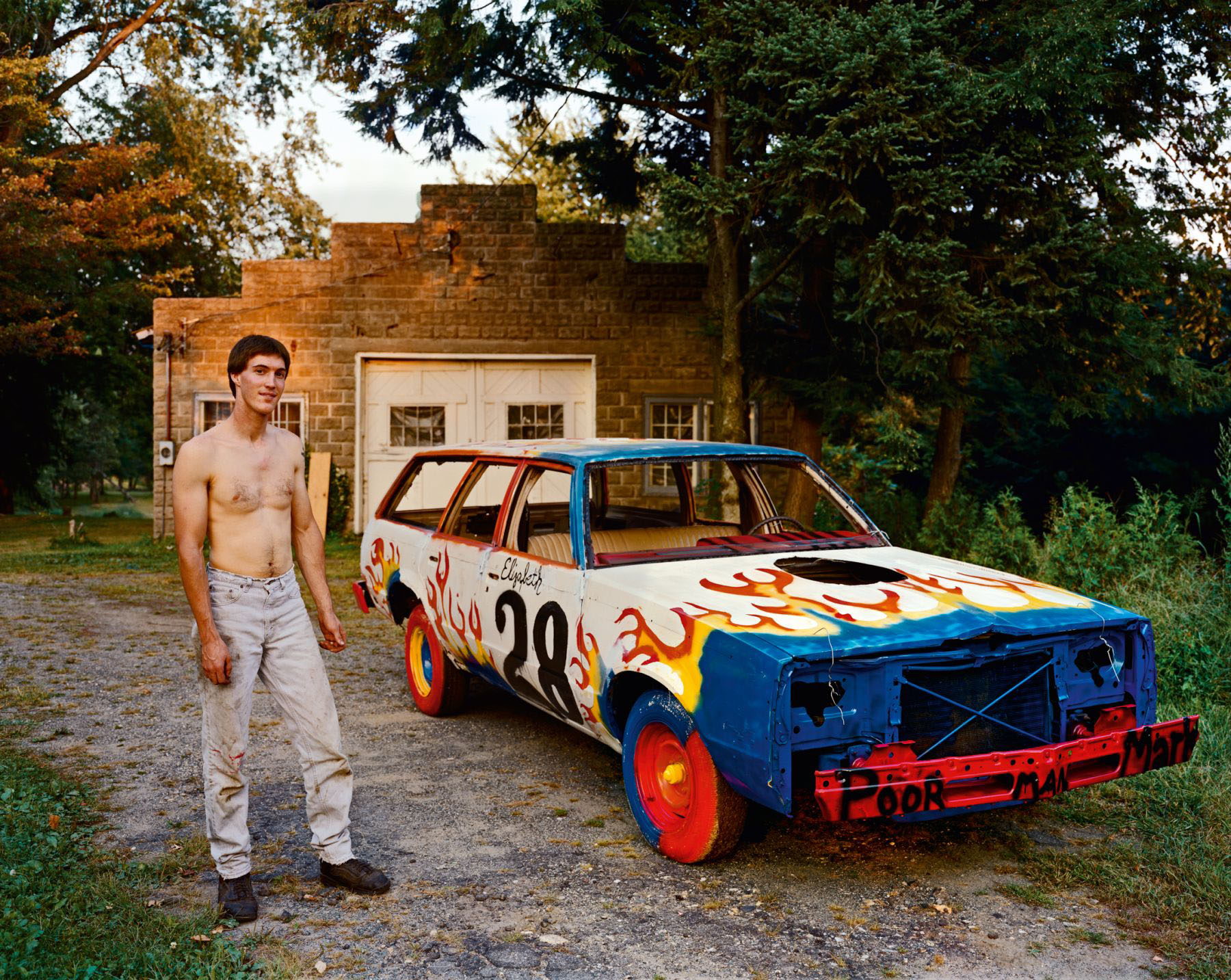A Man Waiting for a Tow Truck to Take His Car to a Demolition Derby at the County Fair, South Hadley, Massachusetts, September 1998<br>The Tow Truck Never Came and He Was Unable to Race That Year