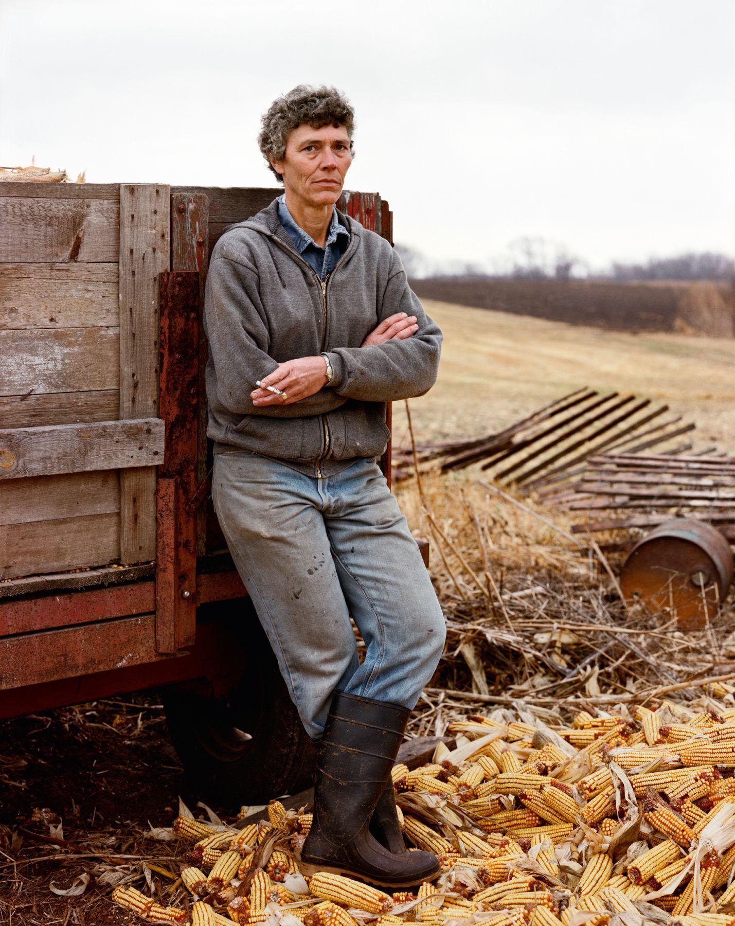 A Farmer Taking a Break, Iowa, She has Cancer of the Thyroid, November 1986