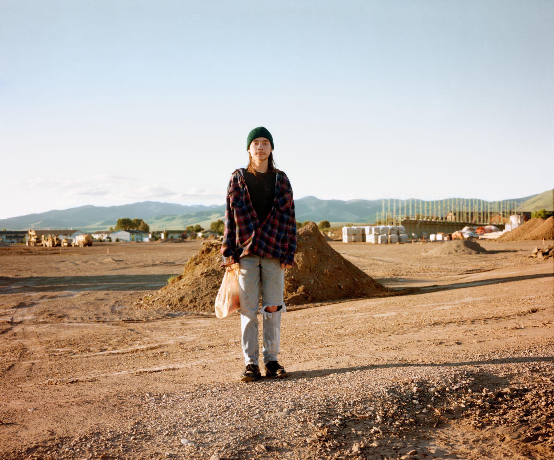 Website Designer Walking Home, Missoula, Montana, July 1988