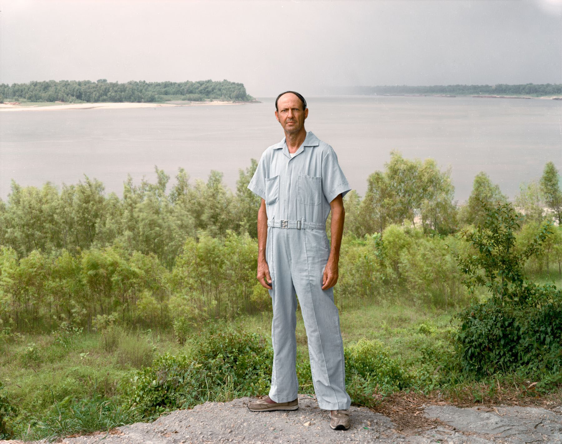 A Man on the Banks of the Mississippi, Baton Rouge, Louisiana, August 1984