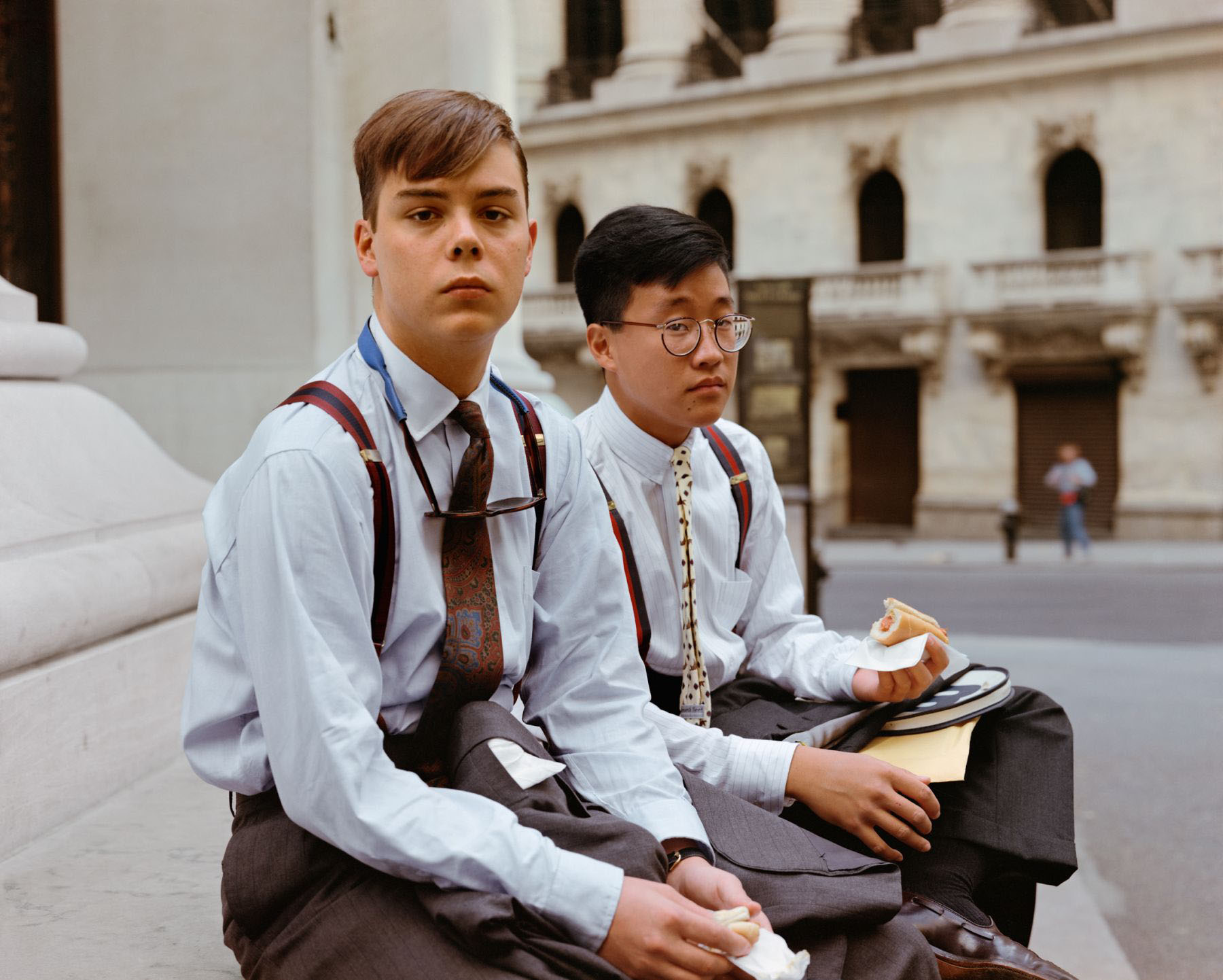 Summer Interns Having Lunch, Wall Street, New York, New York, August 1986