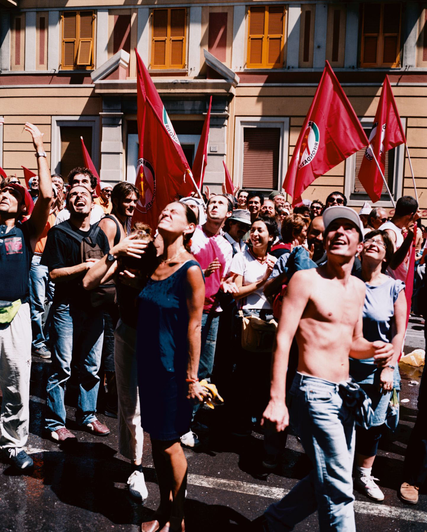 Water Thrown on Protestors, Genoa, 20 July 2001