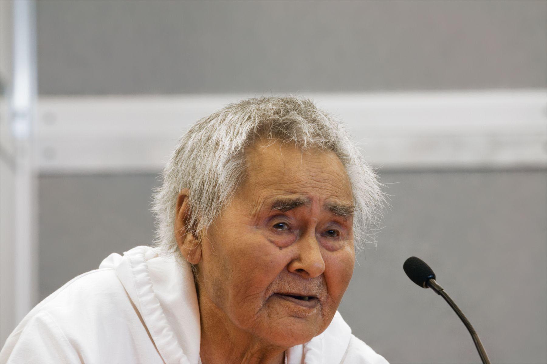 Naalak Nappaaluk, Inur Elder, Kangirsujuaq, Nunavik, Canada, 2005