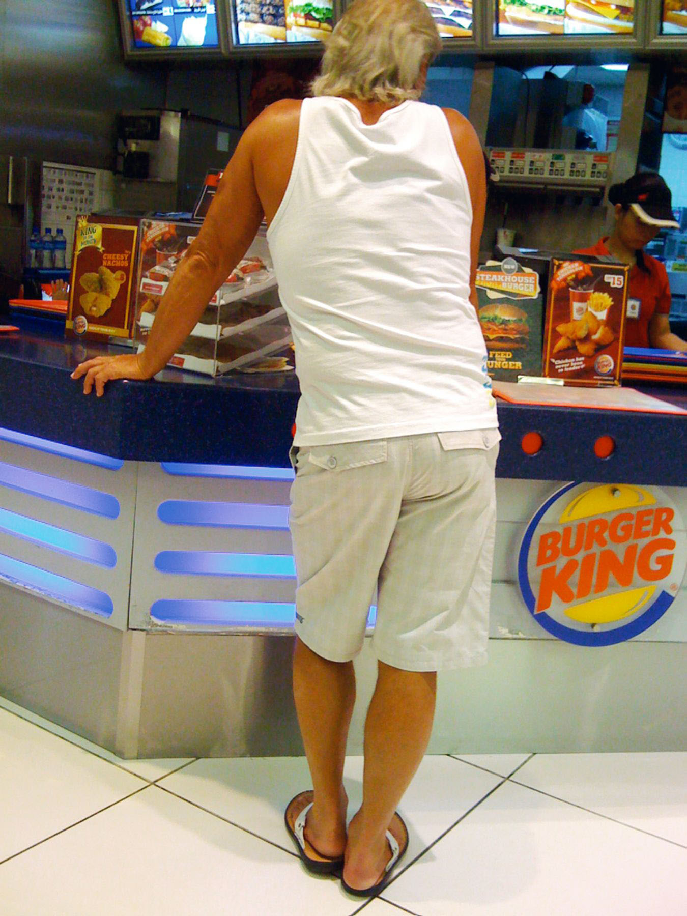 Buger King, West Food Court, Mall of the Emirates, 2008-2009