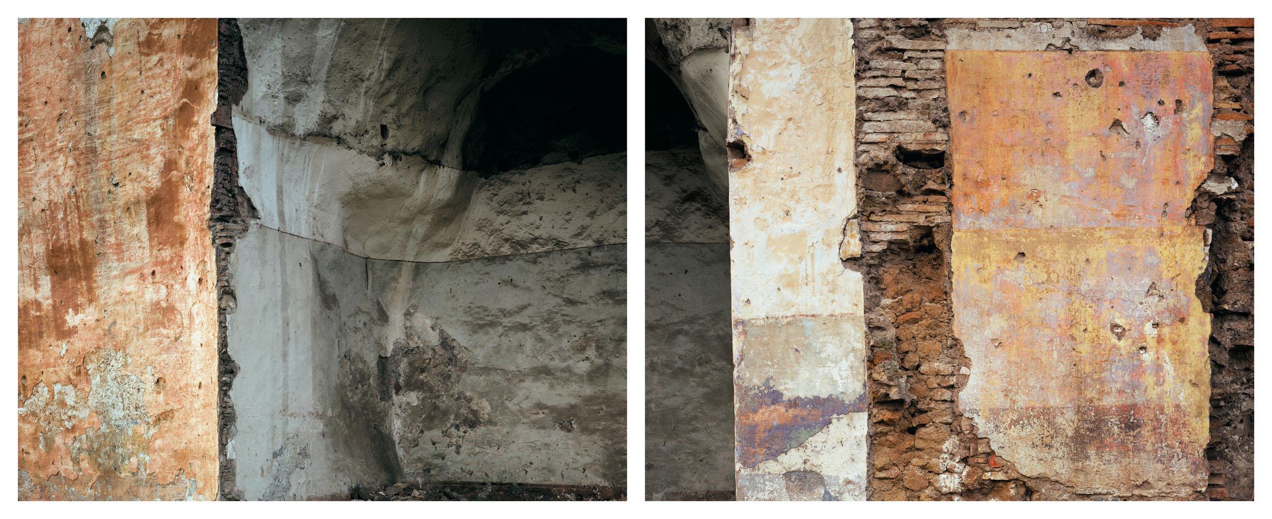 Arches of the Felice Aqueduct where squatters had lived, Vicolo dell' Aquedotto Felice, Rome, November 1990