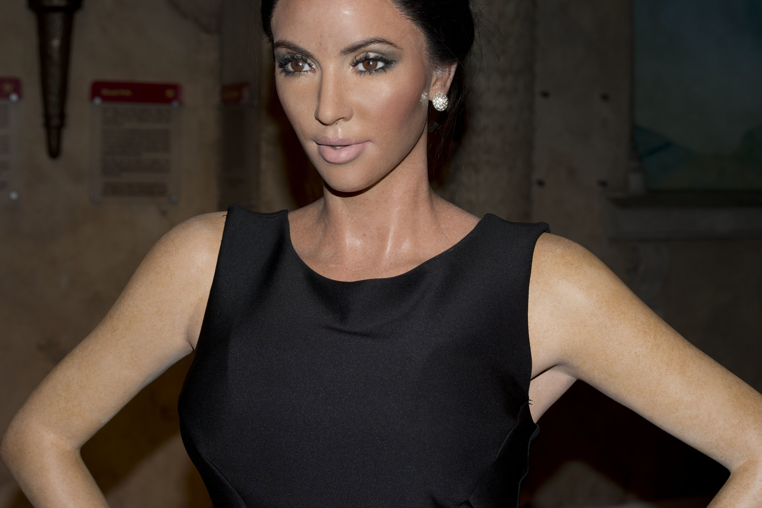 Kim Kardashian at Madame Tussauds Wax Museum, New York City