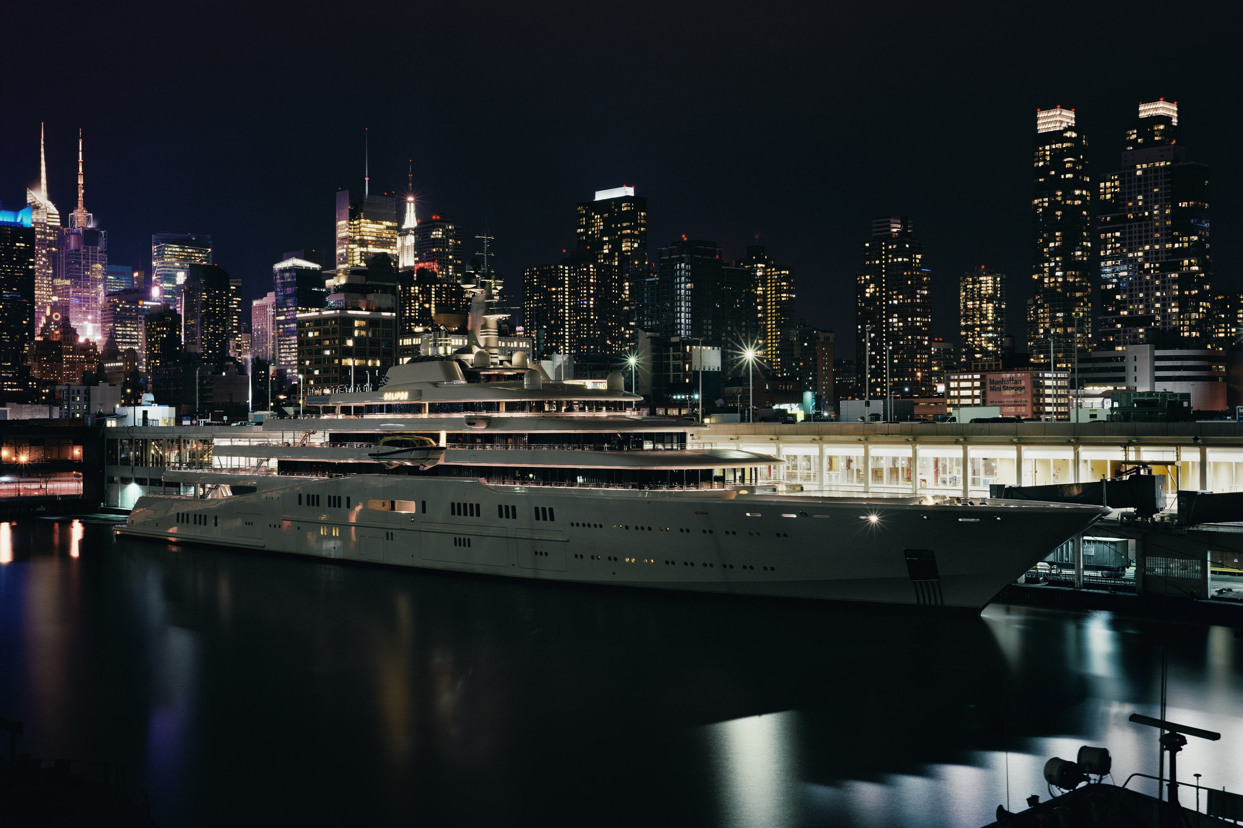 The Eclipse, a Yacht Belonging to Russian Oligarch Roman Abramovich, New York City
