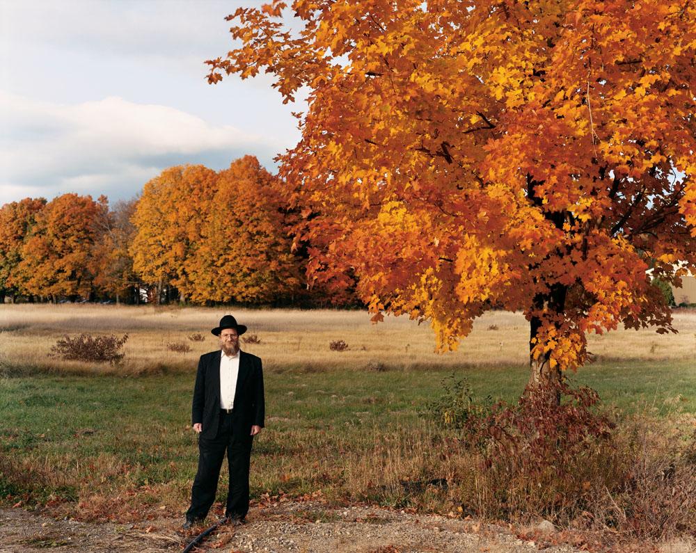 Rabbi Chaim Adelman at Eretz HaChaim, Sunderland, Massachusetts, October 2004.