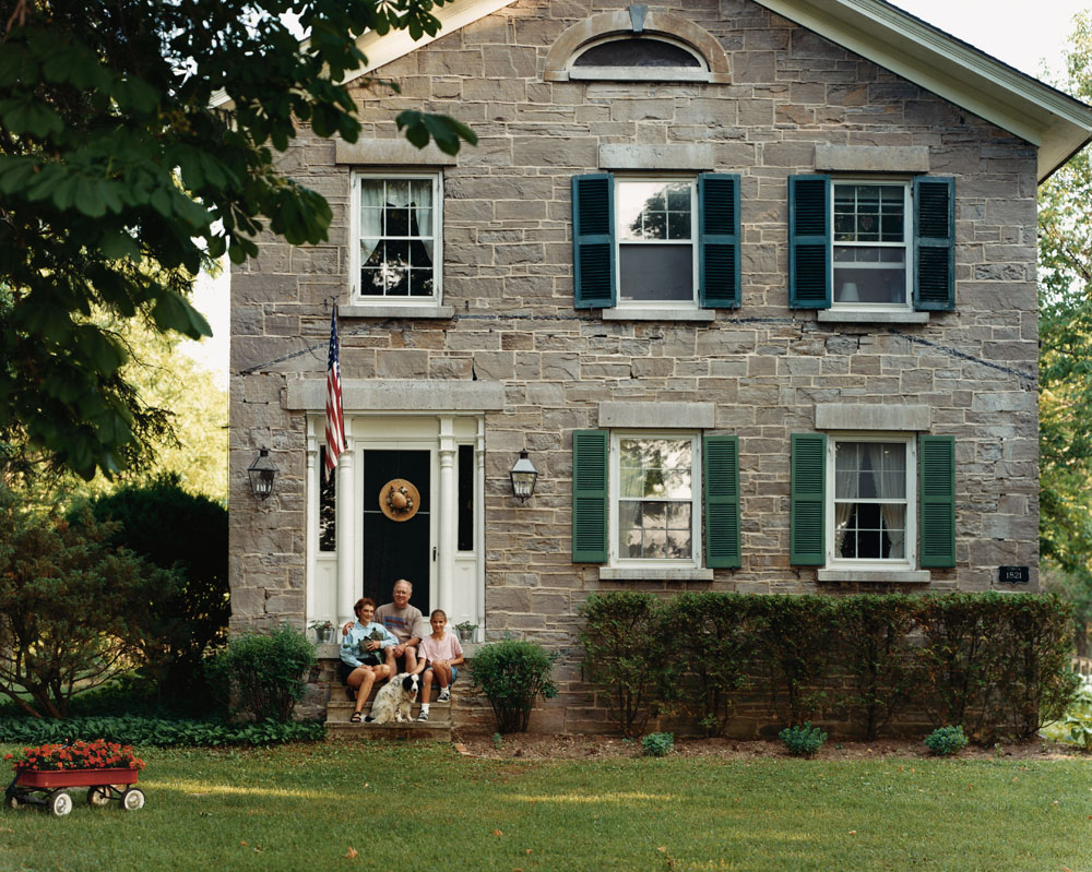 Bed and Breakfast, Wiscoy, New York, August 1996.