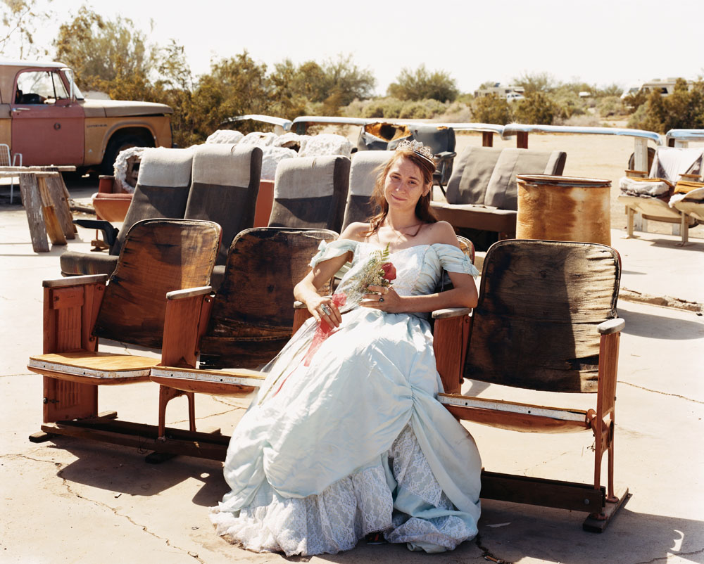 Queen of the Prom, the Range Nightclub, Slab City, California, March 2005.