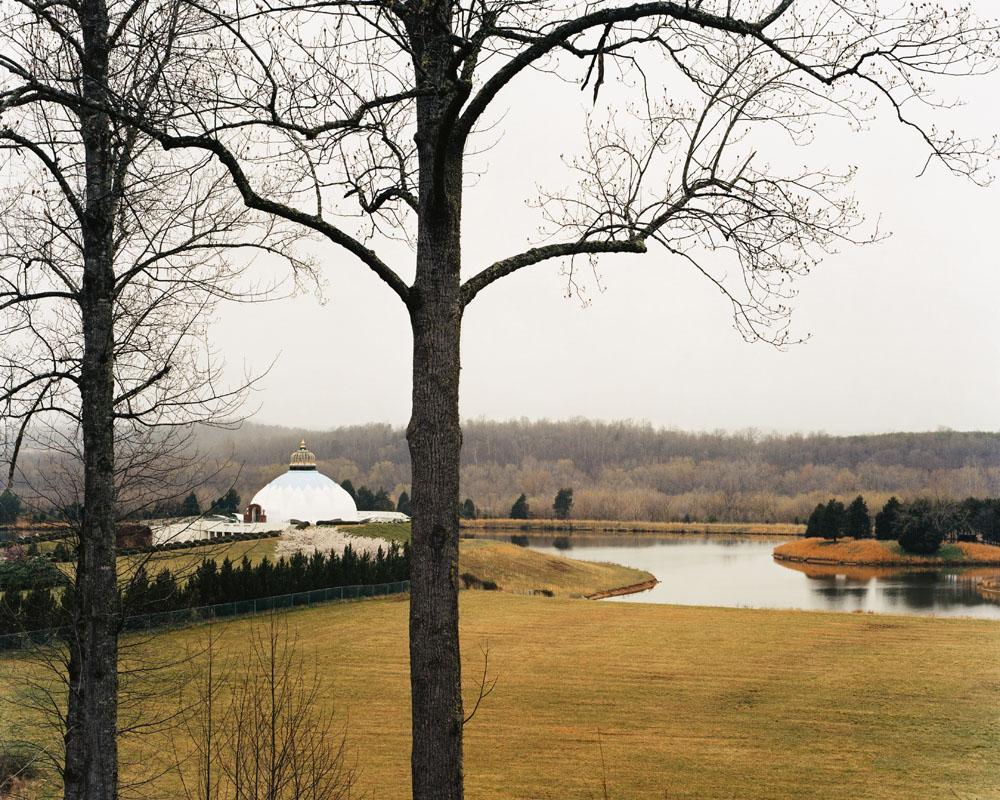 Light of Truth Universal Shrine (LOTUS), Yogaville, Buckingham, Virginia, April 2004.