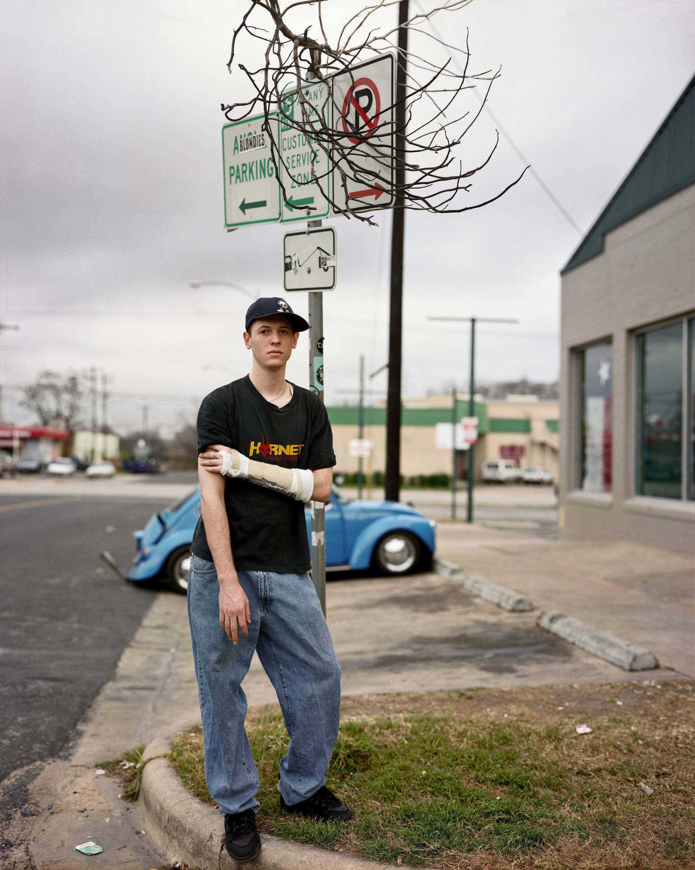 A Man Outside Blondie's Skate Shop, Austin, Texas, February 1999