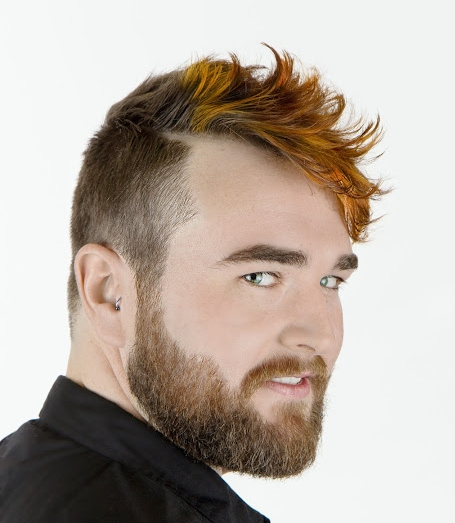 Mens Cut and Color with Beard Work