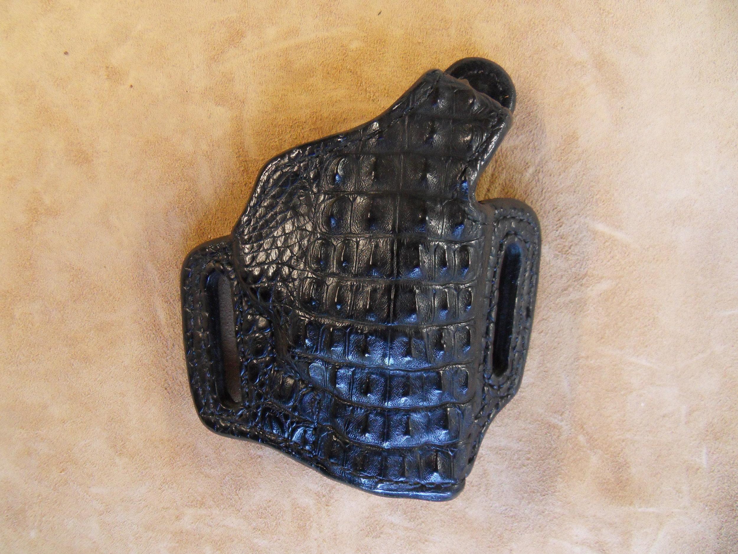 "8624 - 2"" J-Frame, Black Hornback Croc, $400.00"