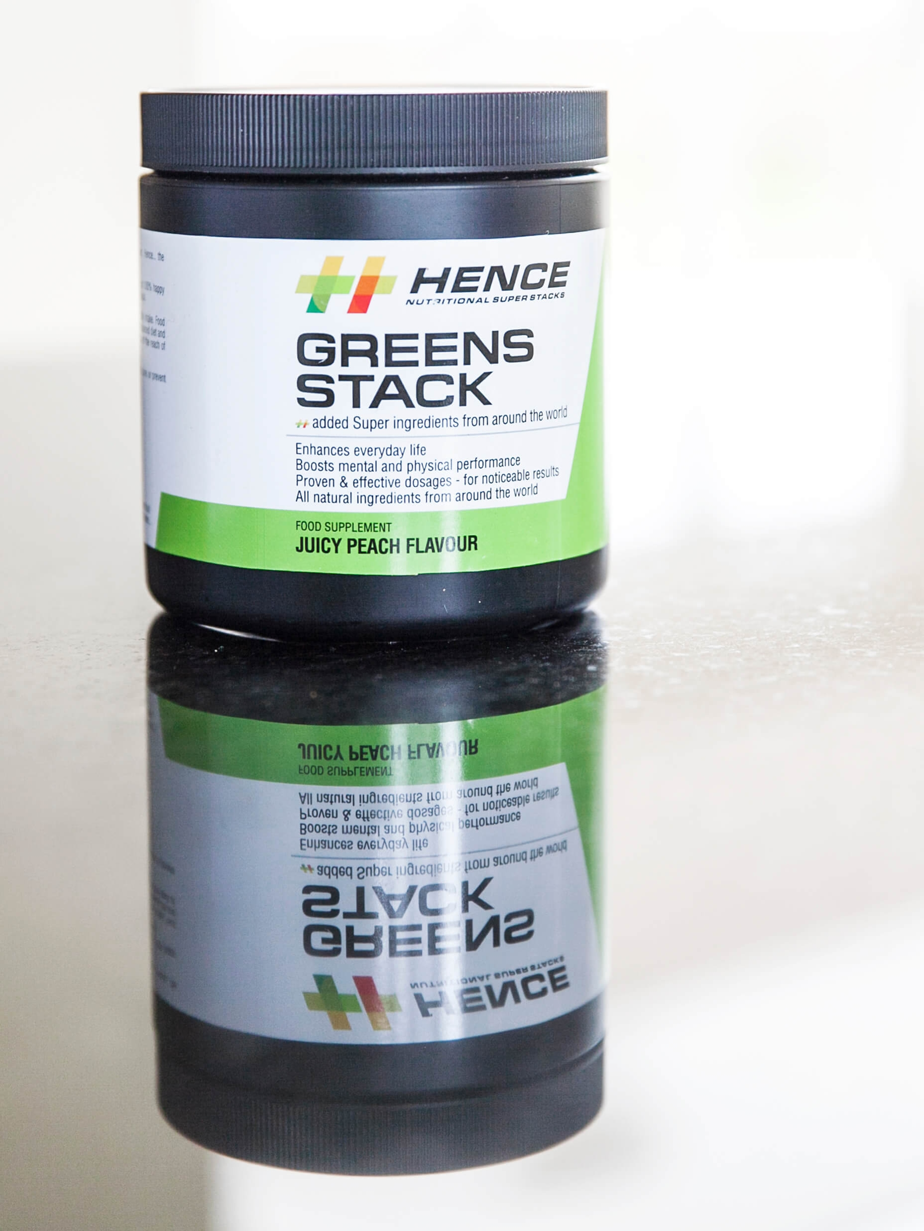 GREENS STACKS Proven natural Ingredients. Only. - Pyhtonutrients - proven natural Ingredients. Only.No fillers, Duds or artificial sweeteners.Stevia sweet & Peach flavour - Just enough to help wash it down.antioxidants & adaptogens bespoke blend